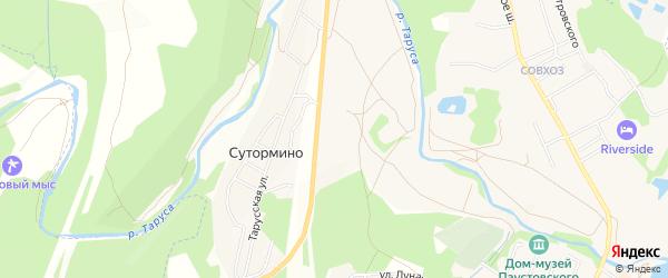 Карта территории Сдт Спутника в Калужской области с улицами и номерами домов