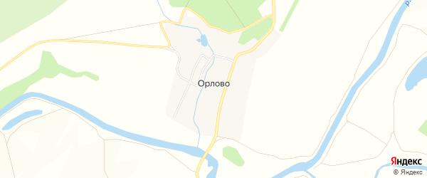 Карта деревни Орлово в Тульской области с улицами и номерами домов