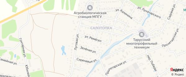 Улица Ремесел на карте Тарусы с номерами домов