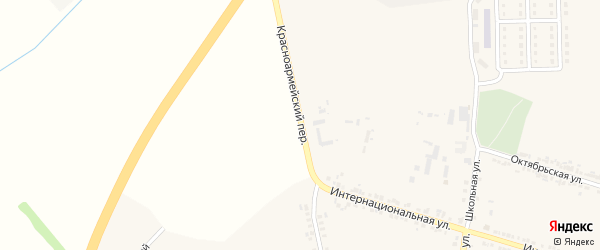 Красноармейский переулок на карте села Погореловки с номерами домов