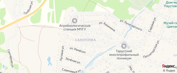 Улица Амелина на карте Тарусы с номерами домов