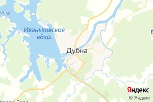 Карта г. Дубна Московская область
