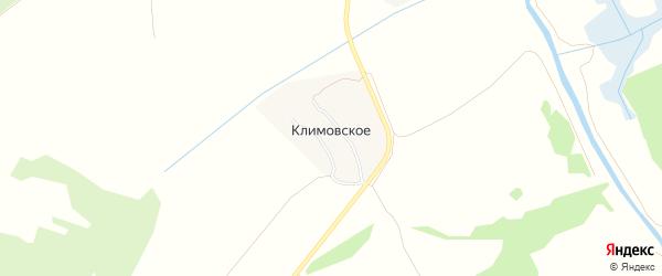 Карта деревни Климовского в Тульской области с улицами и номерами домов