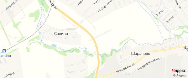 Квартал 38 на карте поселения Кокошкино с номерами домов