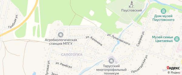 Улица Калинина на карте Тарусы с номерами домов