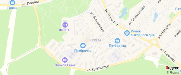 Улица Королева на карте Тарусы с номерами домов