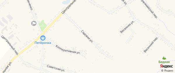 Садовая улица на карте села Погореловки с номерами домов