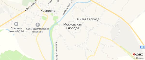 Карта Московской слободы в Тульской области с улицами и номерами домов
