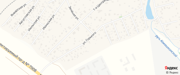 Улица Горького на карте поселка Кокошкино с номерами домов