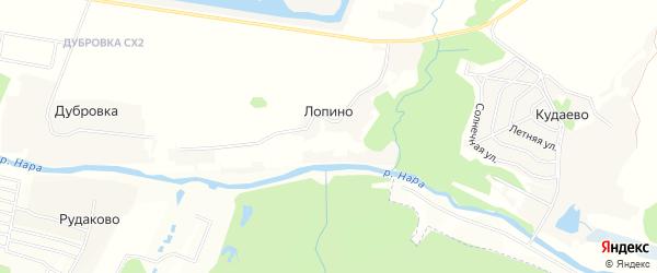 Карта деревни Лопино города Чехов в Московской области с улицами и номерами домов
