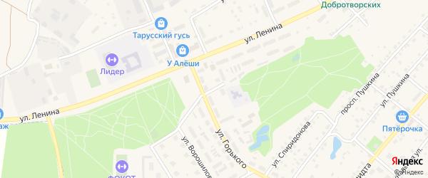 Переулок Ленина на карте Тарусы с номерами домов