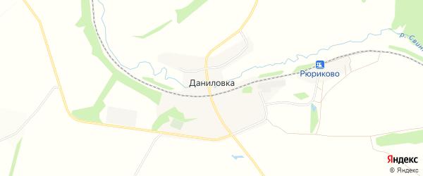 Карта деревни Даниловки в Тульской области с улицами и номерами домов