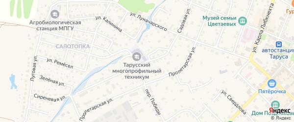 Садовая улица на карте Тарусы с номерами домов