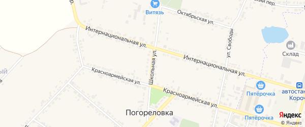 Школьная улица на карте села Погореловки с номерами домов