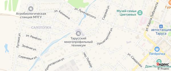 Садовая улица на карте Сдт Льгово Калужской области с номерами домов