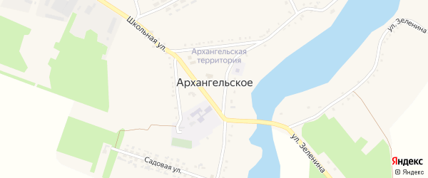 Заречная улица на карте Архангельского села с номерами домов
