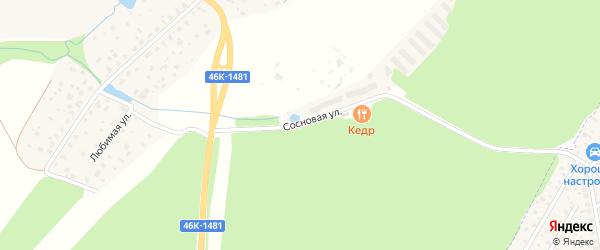 Сосновая улица на карте деревни Зайцево Московской области с номерами домов