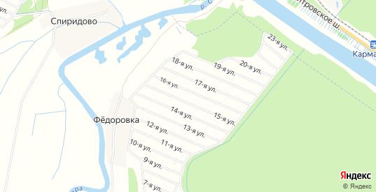 Территория Квартал Чернобыль на карте Дмитрова с номерами домов