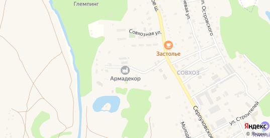 Заречная улица в Тарусе с номерами домов на карте. Спутник и схема онлайн