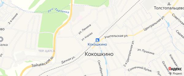 Карта поселка Станция Бекасово в Москве с улицами и номерами домов