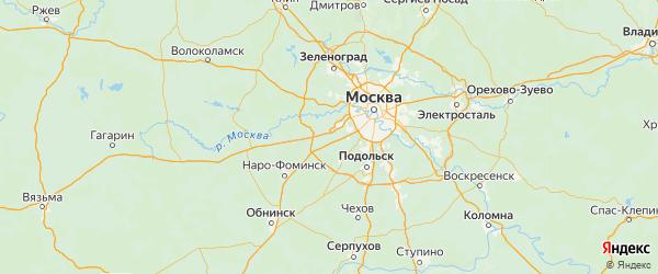 Карта поселения Кокошкино города Москвы с городами и населенными пунктами