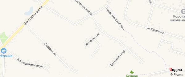 Весенняя улица на карте села Погореловки с номерами домов