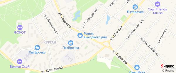 Улица Горького на карте Тарусы с номерами домов