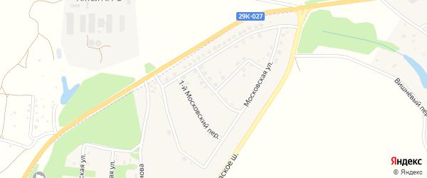 2-й Московский переулок на карте Тарусы с номерами домов