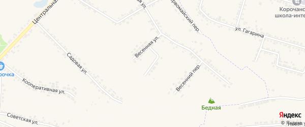 Пролетарский переулок на карте села Погореловки с номерами домов