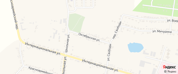 Октябрьская улица на карте села Погореловки с номерами домов