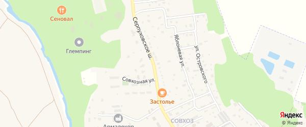 Серпуховское шоссе на карте Тарусы с номерами домов
