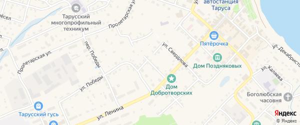 Улица К.Маркса на карте Тарусы с номерами домов