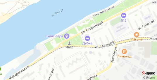 3-й Флотский переулок в Дубне с номерами домов на карте. Спутник и схема онлайн