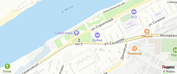 3-я Брусничная улица на карте Дубны с номерами домов
