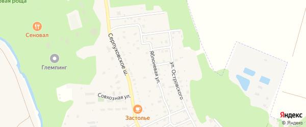 Яблоневая улица на карте Тарусы с номерами домов