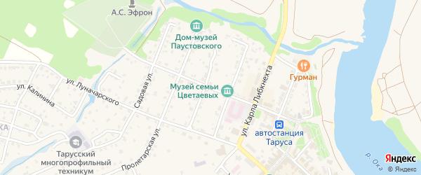 Улица Р.Люксембург на карте Тарусы с номерами домов