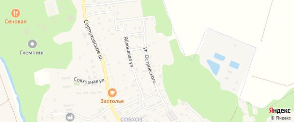 Улица Островского на карте Тарусы с номерами домов