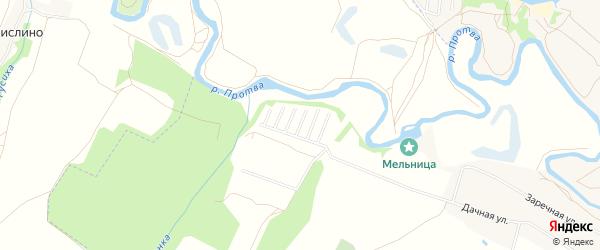 Карта территории Сдт Протва-1 в Калужской области с улицами и номерами домов