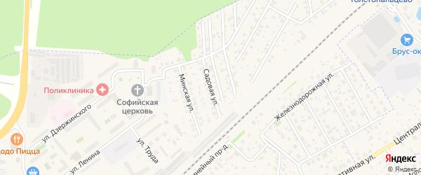Садовая улица на карте поселка Кокошкино с номерами домов