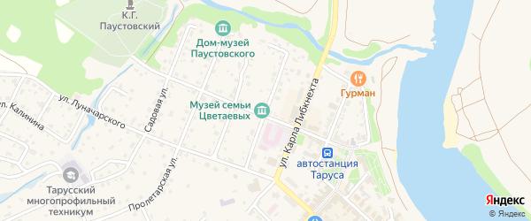 Пионерская улица на карте Тарусы с номерами домов