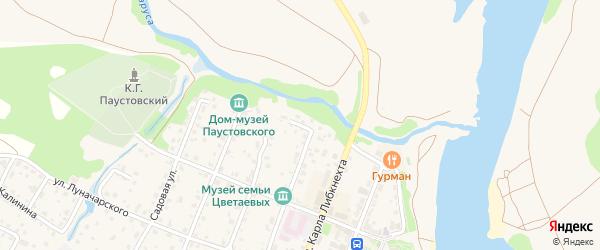 Пионерский переулок на карте Тарусы с номерами домов