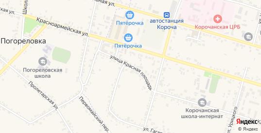 Улица Красная Площадь в Короче с номерами домов на карте. Спутник и схема онлайн