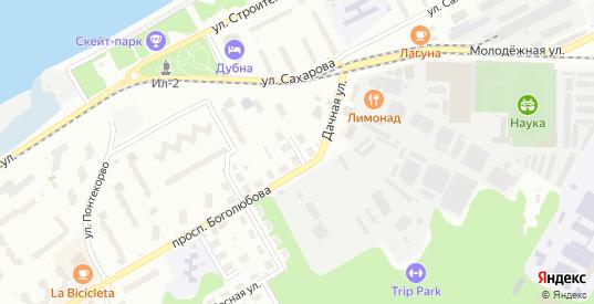 Дачный переулок в Дубне с номерами домов на карте. Спутник и схема онлайн