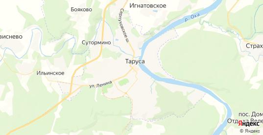 Карта Тарусы с улицами и домами подробная. Показать со спутника номера домов онлайн