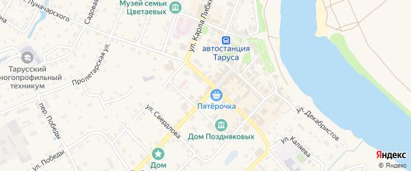 Липовая улица на карте Тарусы с номерами домов