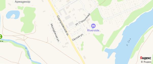 Переулок Строителей на карте Тарусы с номерами домов