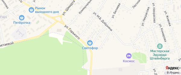 Советский переулок на карте Тарусы с номерами домов