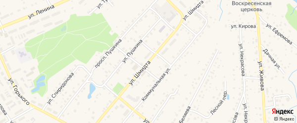Улица Шмидта на карте Тарусы с номерами домов