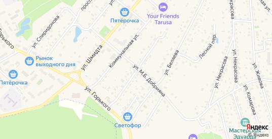 Советская улица в Тарусе с номерами домов на карте. Спутник и схема онлайн