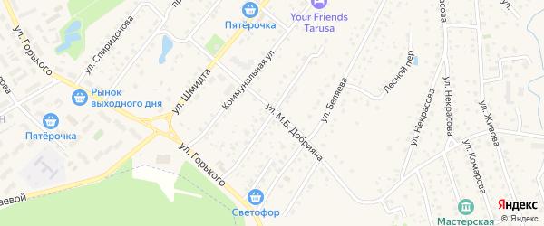 Советская улица на карте Тарусы с номерами домов